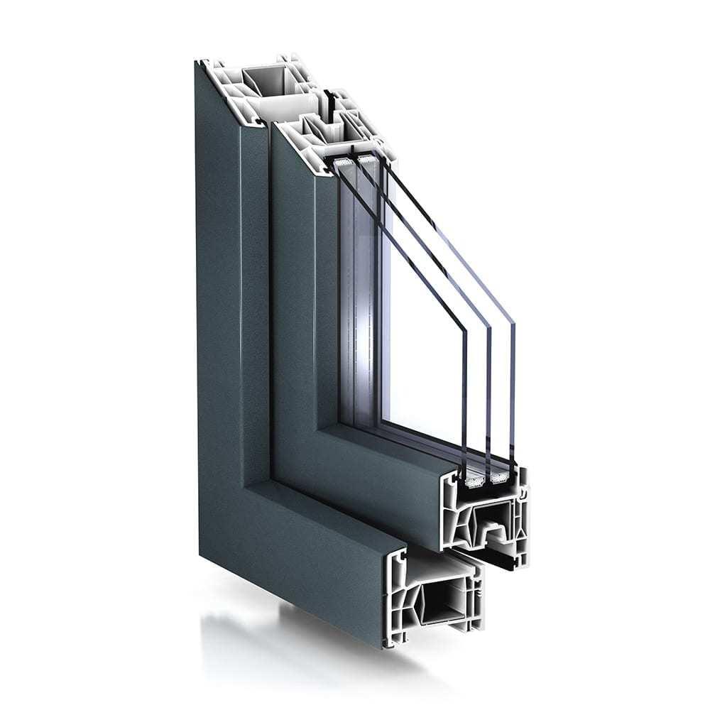 La sezione di un serramento in PVC